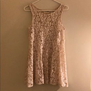 Free People Cream Lace Dress